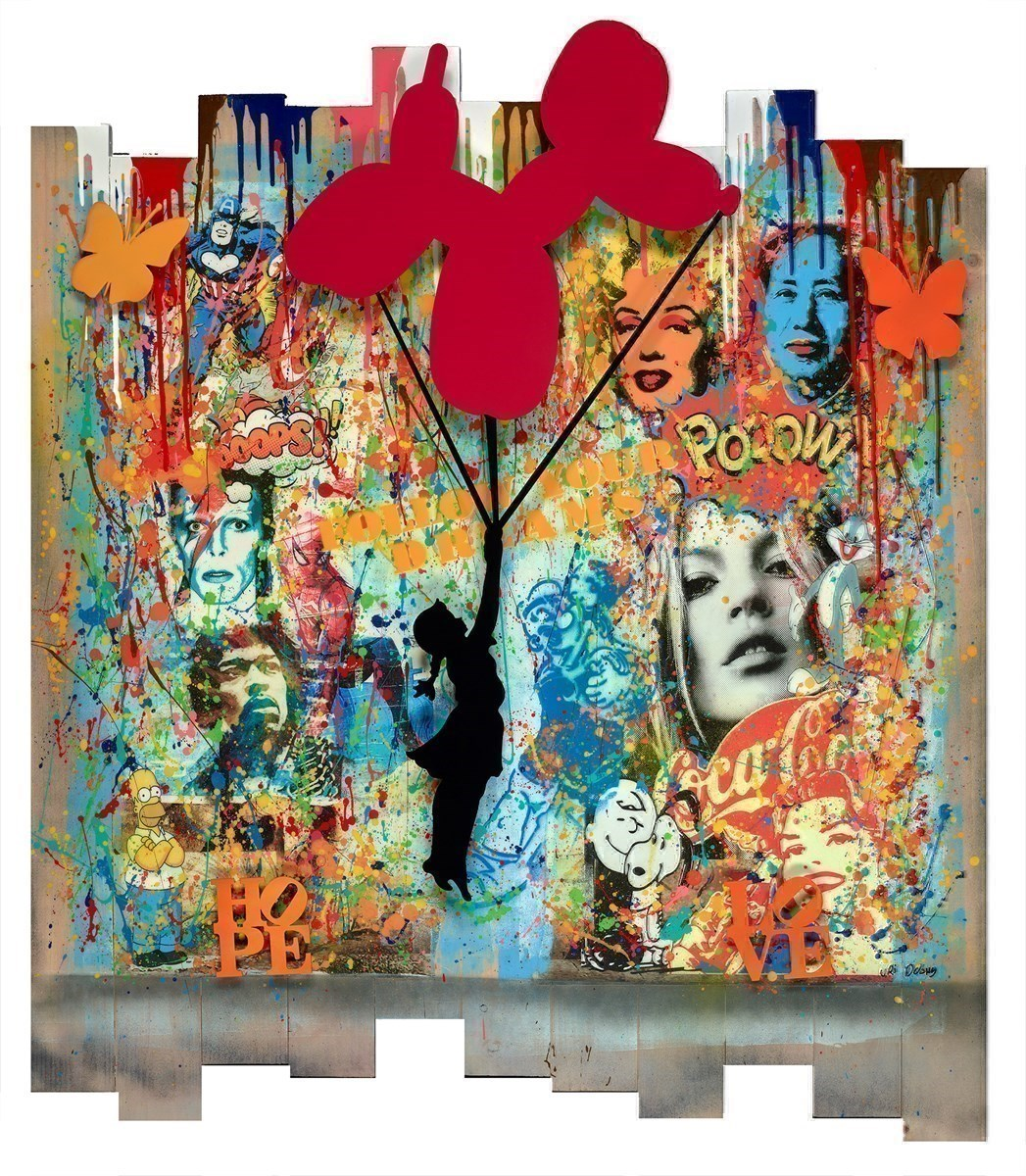 Hope and Love by Uri Dushy -  sized 39x45 inches. Available from Whitewall Galleries